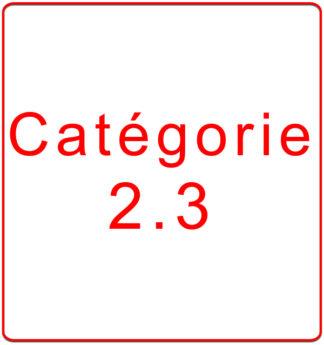 Catégorie 2.3