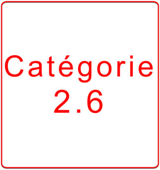 Catégorie 2.6