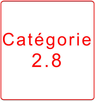 Catégorie 2.8