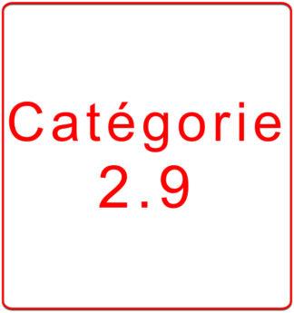 Catégorie 2.9